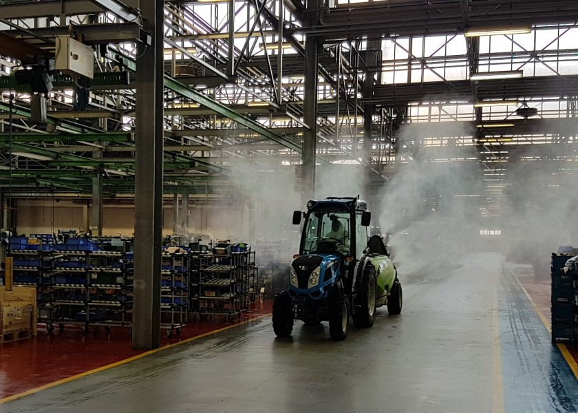 Saneamiento en todas las plantas de Argo Tractors