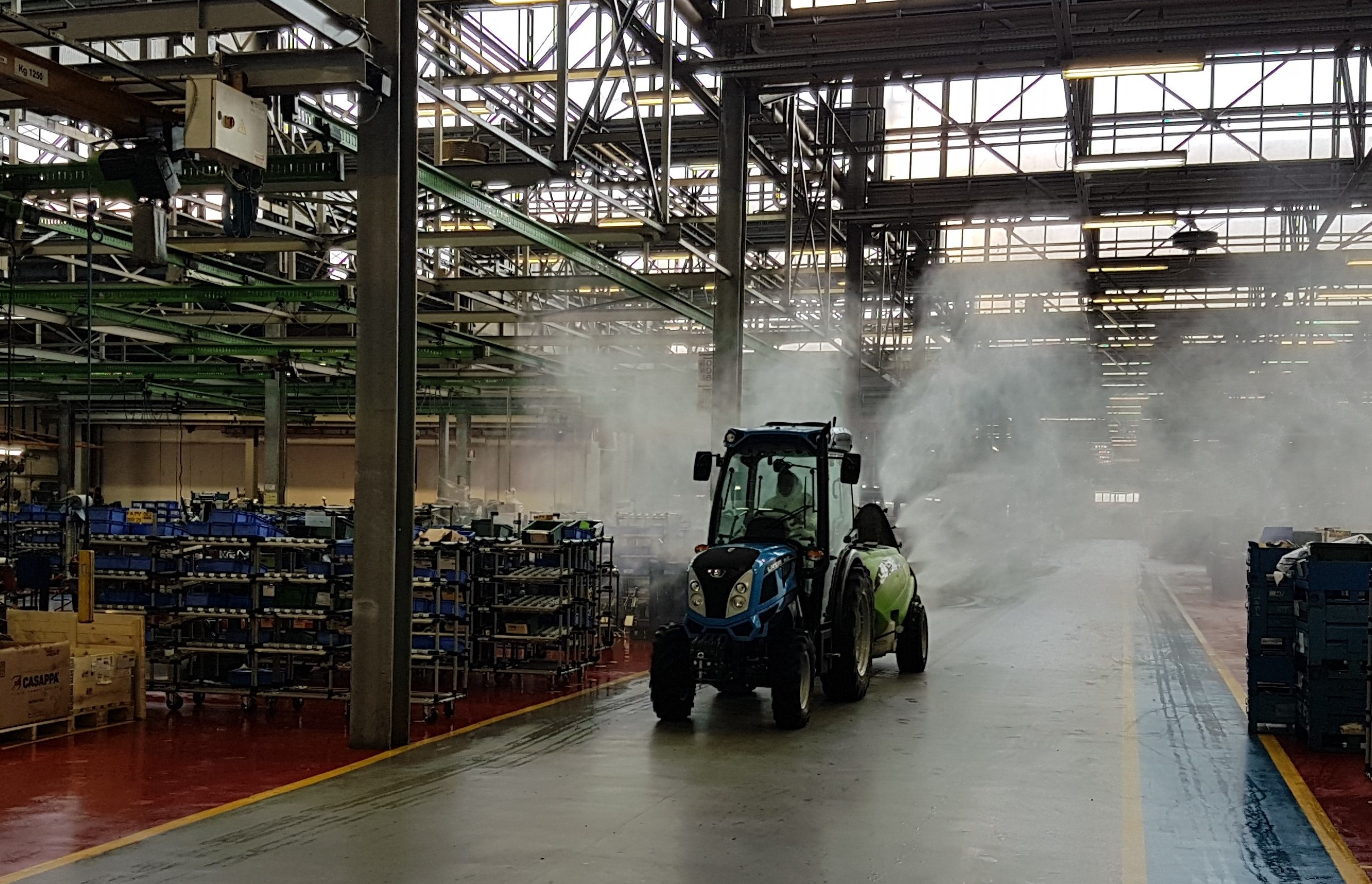 Sanitization Argo Tractors plants